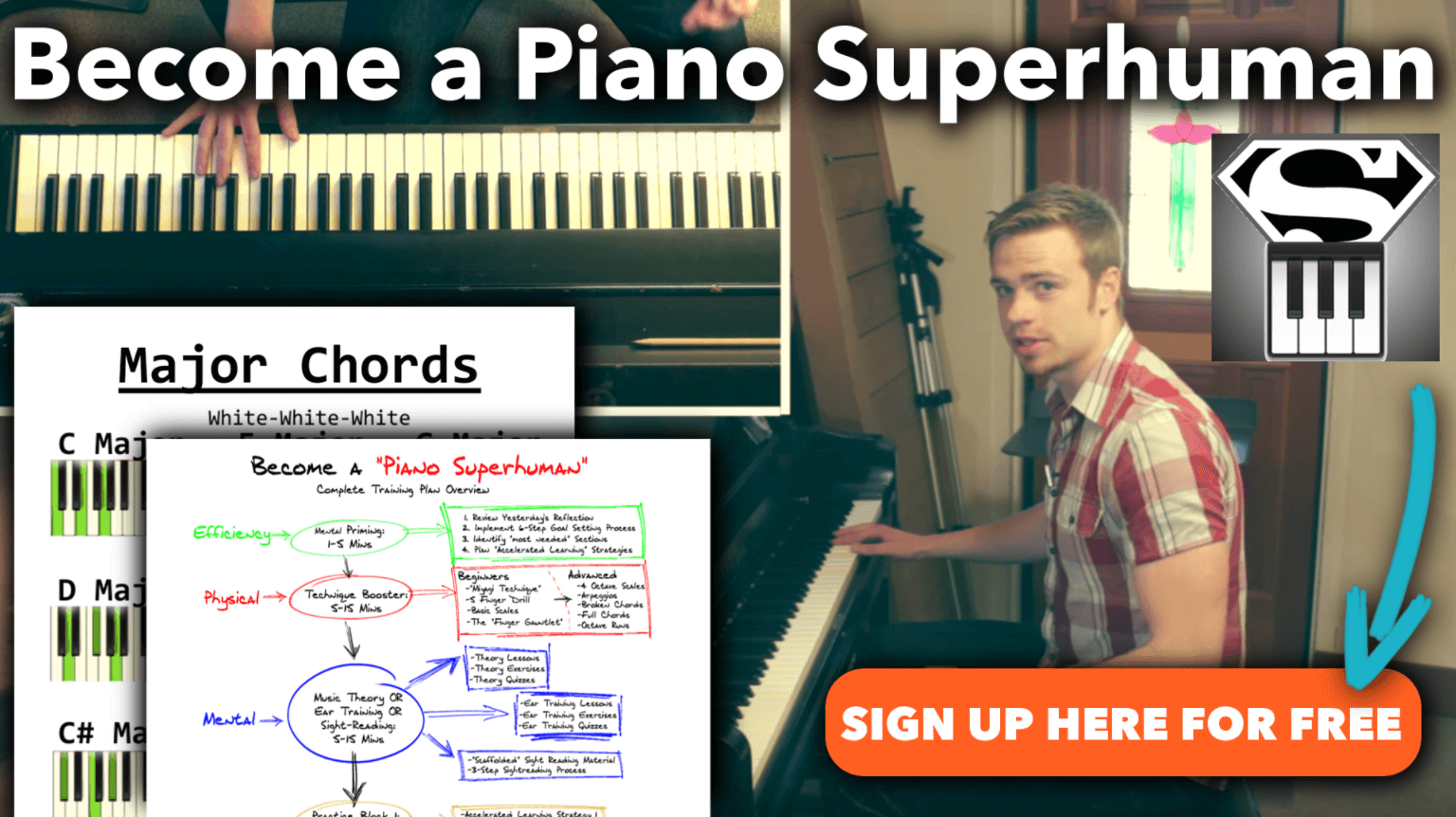 The BEST Piano Exercise for Beginners - Become a Piano Superhuman